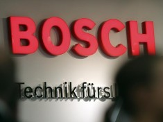 The logo of Bosch company is seen during the IFA Electronics show in Berlin