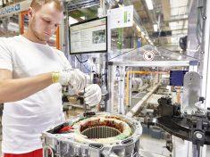 Audi Hungaria, villanymotor, gyártás