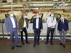 Production at Volkswagen in Wolfsburg begins again