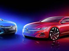 Volkswagen Arteon Shooting Brake (left) and VW Arteon 2020