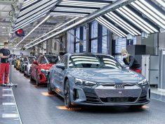 Audi e-tron GT a Böllinger Höfe gyártósorain